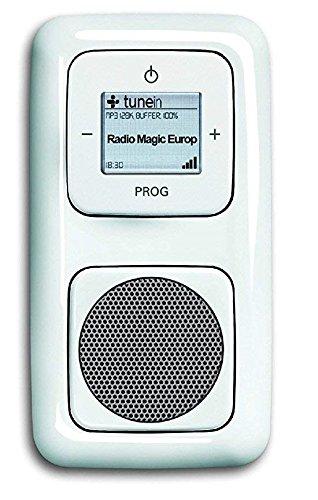 Busch Jäger Unterputz UP WLAN iNet Internetradio 8216 U (8216U) alpinweiß Komplett-Set Reflex SI // Radioeinheit + Lautsprecher + 2-fach Rahmen + Abdeckungen