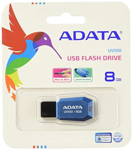 Adata UV100 USB 2.0 8GB Pen Drive (Blue)