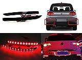 LED 2x schwarz Rauchglas-Linse Stoßstange hinten Reflektor Schwanz Stop Bremslicht DRL TFL für 2007–17Volks Tiguan 5N