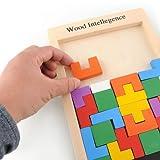Ahşap Tangram Brain Teaser Puzzle Tetris Game Educational bebek Kids Toy Gift