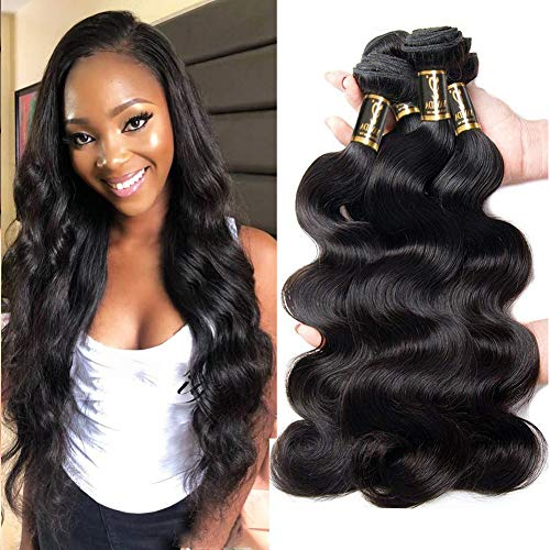 Yavida Human Hair Waves Brazilian Human Hair Bundles Extensions Echthaar Remy Body Wave 3 Bundles Weave Hair Brasilianische Haare 20 22 24 Inch Haarverlängerung Echthaar