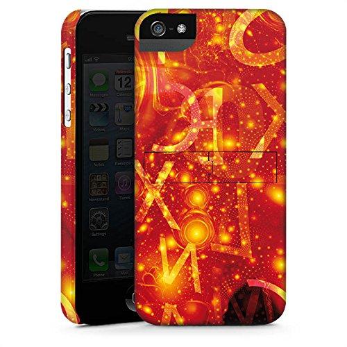 Apple iPhone X Silikon Hülle Case Schutzhülle Muster Abstarkt Glut Premium Case StandUp