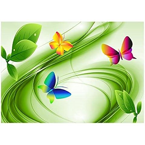 Farfalla, Poster di Carta Manifesto Cartellone Design Art Foto Deco Print Immagine con Disegno Colorato. Dimensione: 60 x 80