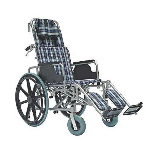 KosmoCare Recliner Light Premium Reclining Foldable Wheelchair with Aluminium Frame
