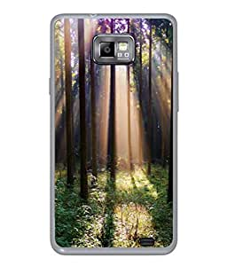 Snapdilla Designer Back Case Cover for Samsung Galaxy S2 I9100 :: Samsung I9100 Galaxy S Ii (Fog Woods Light Nature Sunrise)