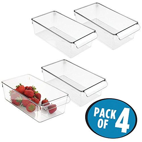 mDesign Contenitori Frigo e Organizer Cucina - Set da 4 Scatole Plastica da usare nel frigorifero