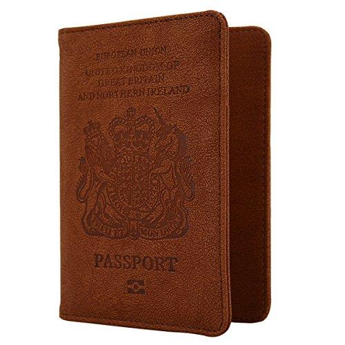 WantGor Cartera para pasaporte(marrón)