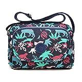 tuokener Bolsos de Mujer Nylon Hombro Bolso Bolsa Impermeable para Mujer Viajar Crossbody Bag Nylon Waterproof (azul)