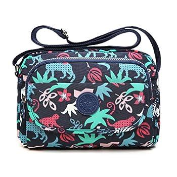 tuokener Cross body Bag Women Nylon Waterproof Womens Messenger Bags Travel  Bag Over Shoulder bag Handbag with Multi-Pocket for Ladies and Girls 52a17e6bb7f76