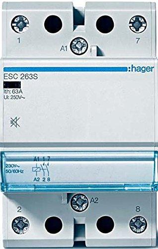 Hager–ESC263S Schütz leise, 63A, 2Na, 230V