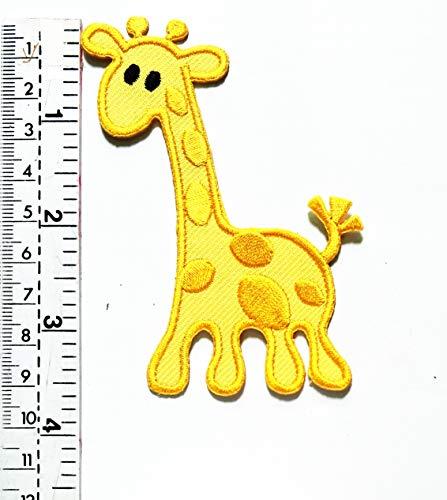 Aufnäher/Aufbügler/Aufnäher, Giraffe mit langem Hals, Tier, Tier, Tier, Safari, Cartoon, für Kinder, Weste, Jacke, Biker, Biker, Tattoo, Jacke, T-Shirt, Aufnähen, (Giraffe Mit Langem Hals Kostüm)
