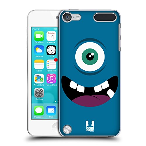 Head Case Designs Blau Fröhlich Monster Ruckseite Hülle für iPod Touch 5th Gen / 6th Gen