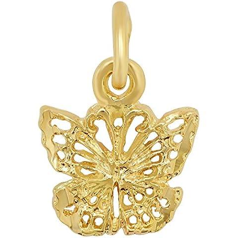 Secondo le donne s, placcati in oro, con pendente a farfalla, misura molto piccola