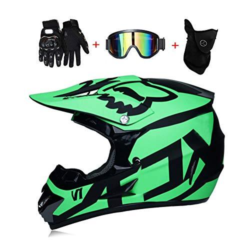 LEENY Motocross Cascos Motos Gafas Guantes Máscara