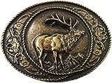 Brazil Lederwaren Gürtelschließe Hirsch mit Rahmen 4,0 cm