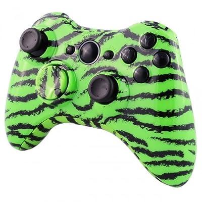 Xbox 360 Wireless Controller - Green Tiger Camo ( Design)