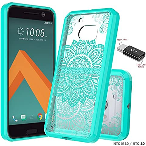 Slook HTC 10 Case Come with Micro USB OTG to USB Adapter Slim Hybrid Drop Protection for HTC 10 (Mint)