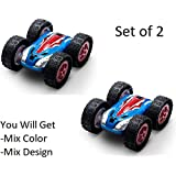 SaleOn™ Double Sided Flip Toy Car/Tumbling Vehicle 360 Degree Spinning Toys For Kids/Set Of 2(Assorted Color/Design)-764