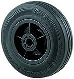 Tente 0090594700 - Lote de 4 ruedas pivotantes (diámetro de 160 mm, caucho), color negro