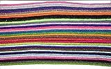 Bastelfilz 33 Filzplattem dekorativer Filzstoff 1,5mm Filzblätter (14 x 6 cm)