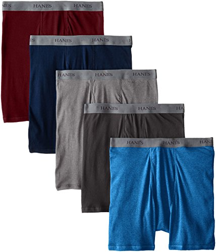 Hanes Classics Mens Assorted Dyed Boxer Briefs P5 M Assorted
