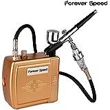 Forever Speed Mini airbrush compresseur Kit complet M Tuyau pour air comprimé Pistolet Aérographe or