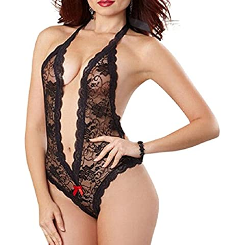 Culater Mujer Plus Tamaño atractivo de la muñeca del cordón de la ropa interior de la ropa interior de dormir