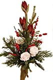 WINTERSTRAUß | Blumenstrauß | AMARYLLIS rot | ROSEN EXTRA GROß | FRISCHE Tanne |