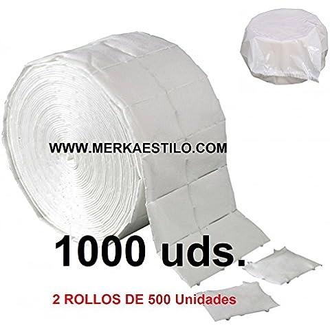 1000 TOALLITAS CELULOSA PRECORTADA MKS PROFESIONAL UÑAS GEL Y ACRILICO (1000 UDS)