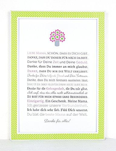 Muttertagsgeschenk | Geschenk für Mama - Besondere Geschenkidee zum Muttertag - Ein persönliches Bild für die Mutter, anstatt einer Muttertagskarte oder Blumen