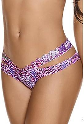 AlmaMía-Camiseta de baño estampado étnico tonos de violetas y rosas, TRITON (BAS)