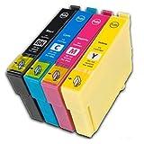 Prestige Cartridge T0611-T0614 4-er Pack Druckerpatronen für Epson Stylus D68, D88, D88 Plus, DX3800, DX3850, DX3850 Plus, DX4200, DX4250, DX4800, DX4850, DX4850 Plus, schwarz / cyan / magenta / gelb