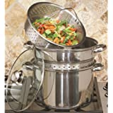 Cookpro 512 8 Qt. Stainless Steel Multi Cooker& Silver - 4 Piece
