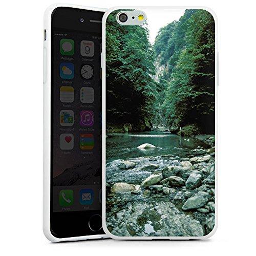 Apple iPhone X Silikon Hülle Case Schutzhülle Fluß Wald Flusslauf Silikon Case weiß