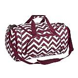 MOSISO Sport Gym Tasche Reisetasche mit vielen Fächern, Schultergurt, Tragegurt fþr Fitness, Sport und Reisen Sporttaschen mit Designs, Chevron Weinrot