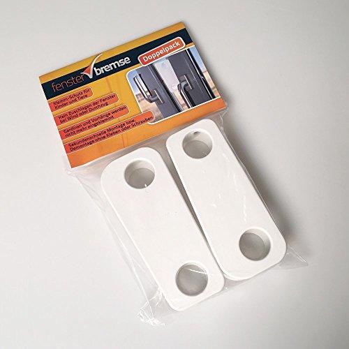 Lichtenstein Medien Fensterbremse Doppelpack, Zuschlagschutz, Kipp-Schutz, Katzen-Klemmschutz