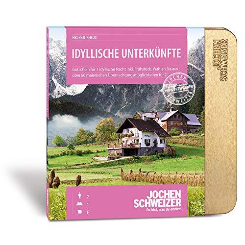 Jochen Schweizer Hotel-Gutschein \'Idyllische Unterkünfte Für 2\', mehr als 60 Hotels, für 2 Personen, 1 Übernachtung, inkl. Frühstück, Urlaubs-Box