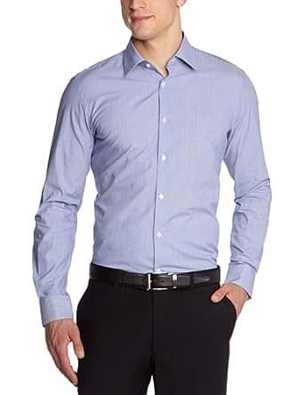 ESPRIT Collection Herren Businesshemd Slim Fit, gestreift 053EO2F002, Gr. 35/36 (XS), Blau (434 royal blue)