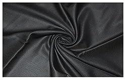V Walkers Mens Poly Blend Self Design Unstitched Trouser Fabric (1.30 Mtr_Black_VST103)