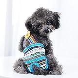 ETbotu Dog clothes,Female Pet Dog Hygiene Diaper Pants,Nappy Pants - Suspenders Physiological Pants for Pets Dogs random 12# (L)