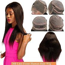 360 Lace Front Wig Human Hair Pelucas Naturales Mujer Pelo Natural Humano  Cabello 360 Encaje 100 ec61fee2f6c3