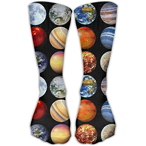 Roue Solar System Planets Space Science Astronomy 3D Printing Casual Compression Socks