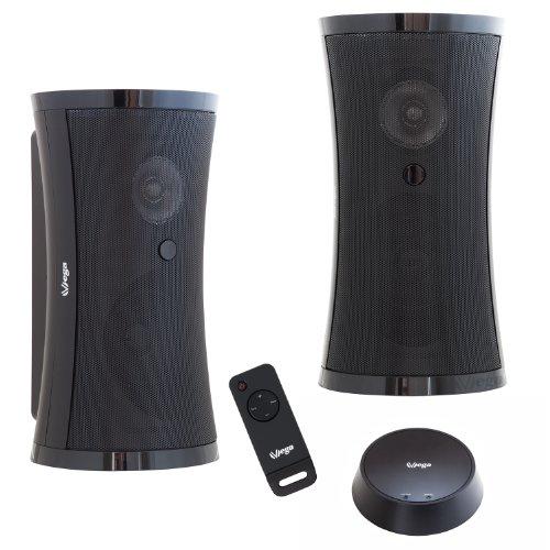 VSG 31102 Exklusives Funk-Lautsprecher Set mit Fernbedienung 2x5W 100W  für drinnen & draußen