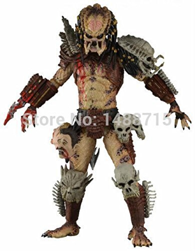 Mall Market NECA Bad Blood Predator 18CM Action Figure Toys Classic Sci-Fi Film Alien Hunter Predators Series Original… 1