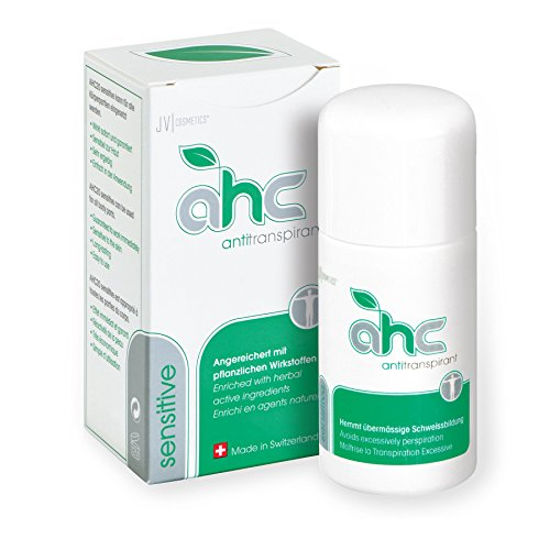 AHC sensitive Antitranspirant - Mittel gegen gegen starkes Schwitzen an sensiblen Bereichen (50ml Tropfflasche, flüssig) - hoch dosiert...