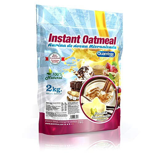 Quamtrax Nutrition Avena Instantánea, Sabor Vainilla con Canela - 2000 gr