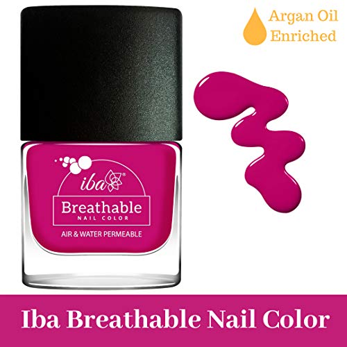 Iba Halal Care Breathable Nail Color, B17 Royal Magenta, 9ml