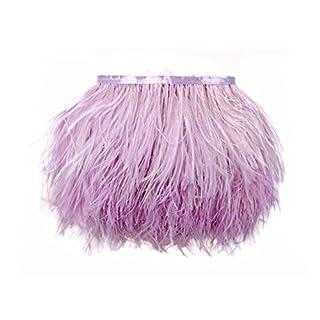 Kolight Lot de 10 Yards Naturel teints en plumes d'autruche 4 ~ 15,2 cm (10 ~ 15 cm) Coupez Frange pour DIY Robe Couture Artisanat Décoration de costumes lavande