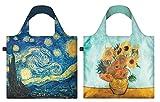 Loqi vg-pk Sternennacht Vincent van Gogh–Vase mit Sonnenblumen, wiederverwendbar, 2Stück