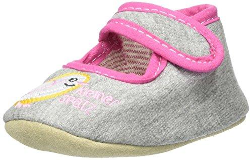 Adelheid Kleiner Spatz Babyschuh, chaussons d'intérieur mixte bébé Grau (Mausgrau)